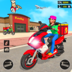 Pizza Delivery: Boy & Girl Bike Game  (Mod)