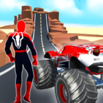 Superhero Mega Ramp Car Stunt – Monster Truck Race  0.2 (Mod)