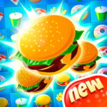 Crush The Burger ! Deluxe Match 3 Game  (Mod)